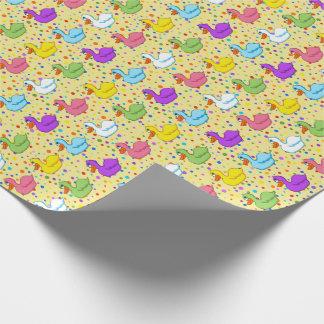 Papier Cadeau Canards dans un papier d'emballage de rangée