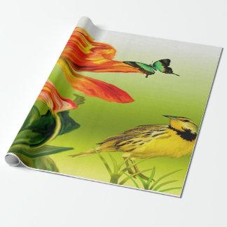 Papier Cadeau Canari jaune