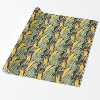 Papier Cadeau Carpe deux dans une cascade par Katsushika Hokusai