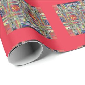 Papier Cadeau Carrés de tissage en verre