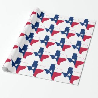 Papier Cadeau Carte de drapeau du Texas