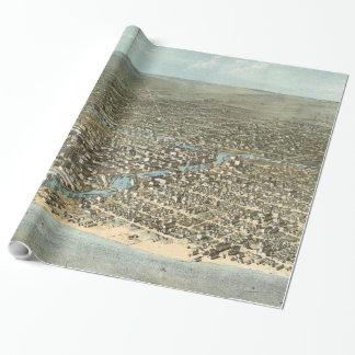 Papier Cadeau Carte imagée vintage de Chicago (1868)