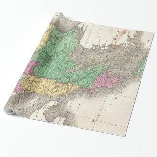 Papier Cadeau Carte vintage des Balkans (1827)