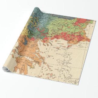 Papier Cadeau Carte vintage des Balkans (1918)