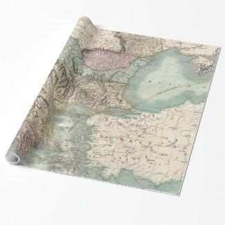 Papier Cadeau Carte vintage des Balkans et de la Turquie (1801)