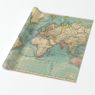 Papier Cadeau Carte vintage du monde