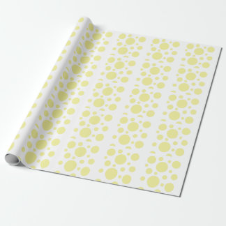 Papier Cadeau Cercles jaunes sur l'arrière - plan blanc,
