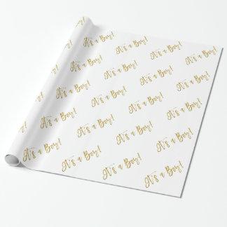 Papier Cadeau C'est un garçon - papier d'emballage nouveau-né de