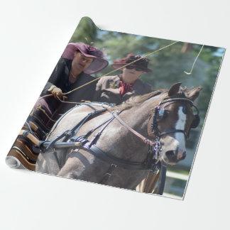Papier Cadeau chariot de colline de noix conduisant le concours