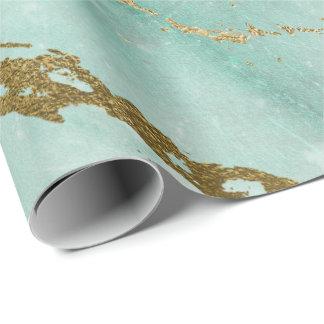 Papier Cadeau Charme brillant de Tiffany d'Aqua de marbre vert
