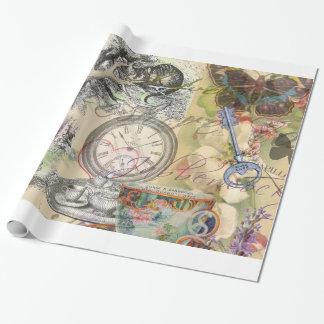 Papier Cadeau Chat Alice de Cheshire au pays des merveilles