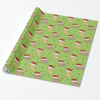 Papier Cadeau Chat de Noël