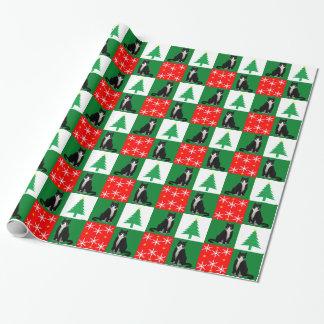 Papier Cadeau Chat de smoking de Noël