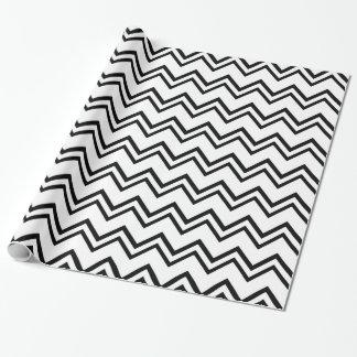 Papier Cadeau Chevron 2 noir et blanc