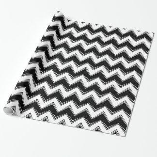 Papier Cadeau Chevron 8 noir et blanc