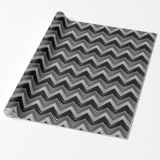 Papier Cadeau Chevron 9 noir et blanc