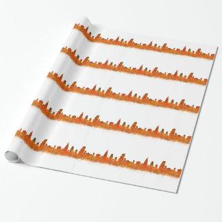 Papier Cadeau Chicago skyline in watercolor Cityscape
