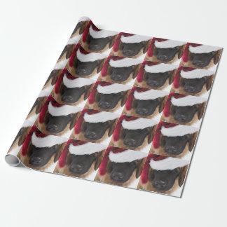 Papier Cadeau Chiot Père Noël de Leonberger