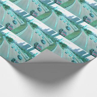 Papier Cadeau Circulation urbaine dans l'aluminium coloré