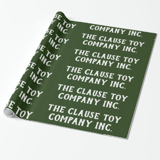 Papier Cadeau Clause Toy Company Inc.Green -