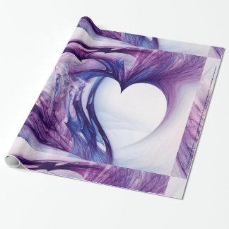 Papier Cadeau Coeur grunge pourpre