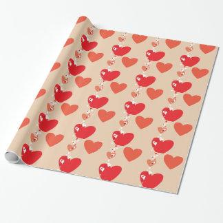 Papier Cadeau Coeurs