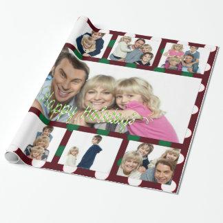 Papier Cadeau Collage 9Picture personnalisé par Noël de point de