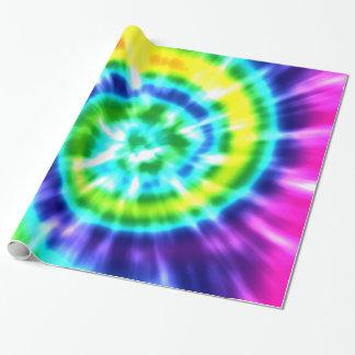 Papier Cadeau Colorant Boho coloré de cravate de paix de hippie