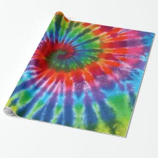 Papier Cadeau Colorant de la cravate 60s de paix de hippie rétro