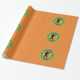 Papier Cadeau Combat de Paintball
