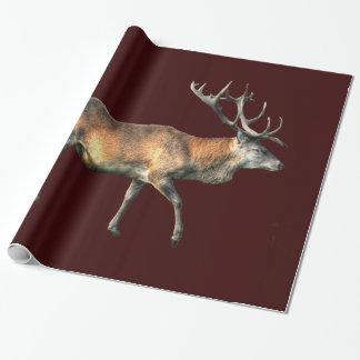 Papier Cadeau Conception animale de faune de mâle de cerfs