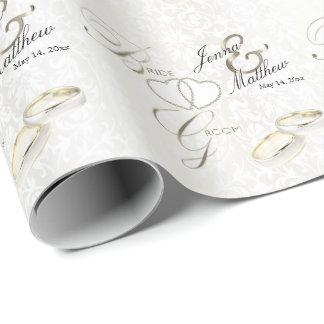 Papier Cadeau Conception d'anneau de mariage de jeunes mariés