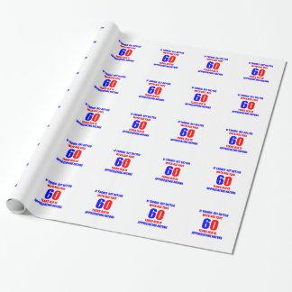 Papier Cadeau conception de 60 anniversaires