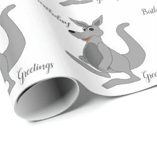 Papier Cadeau Conception personnalisée de kangourou