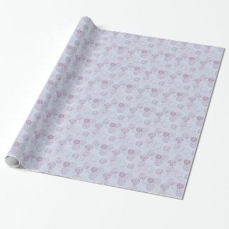 Papier Cadeau Conception pourpre et bleue d'éclat de fleur