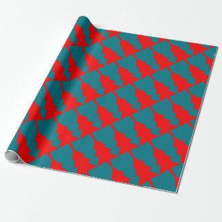 Papier Cadeau Conception rouge d'arbre de Noël