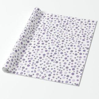 Papier Cadeau Confettis pourpres