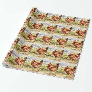 Papier Cadeau Coq bonjour par Julie Lemons.jpg