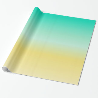 Papier Cadeau Couleur Ombre d'or de sable et de turquoise de mer