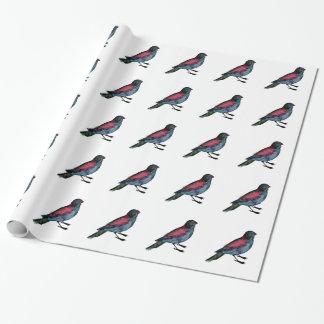 Papier Cadeau Couleur pour aquarelle d'oiseau