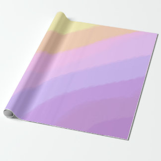 Papier Cadeau couleurs au néon lumineuses mignonnes de licorne