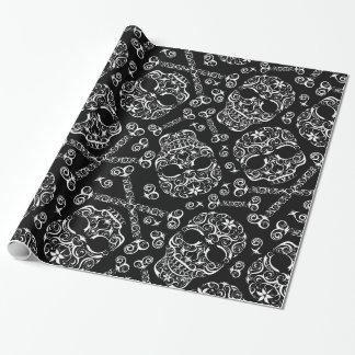 Papier Cadeau Crâne de dentelle et papier d'emballage I de motif