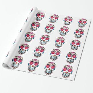 Papier Cadeau Crâne de sucre - art de tatouage