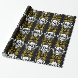 Papier Cadeau Crâne grunge