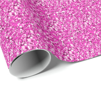Papier Cadeau Cristal de Druzy - rose de fuchsia