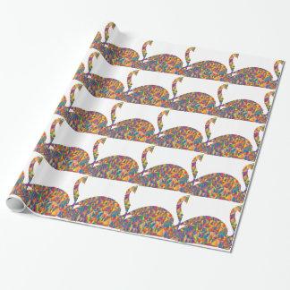 Papier Cadeau cygne coloré