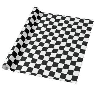 Papier Cadeau Damier noir et blanc
