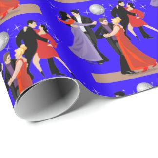 Papier Cadeau Danseur de salle de bal avec l'arrière - plan de