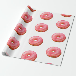Papier Cadeau Dessert rose de bonbon à butées toriques