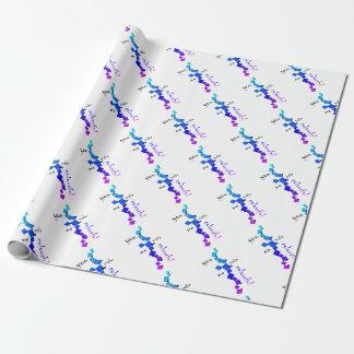 Papier Cadeau Devolissium - cubes tombés avec le texte